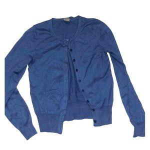 Ann Taylor cute heavy blue cardigan button